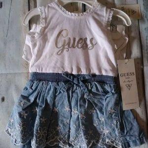 Guess Baby Girls Sleeveless Jean Top Dress 3-6M